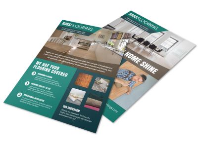 Modern Flooring Flyer Template preview