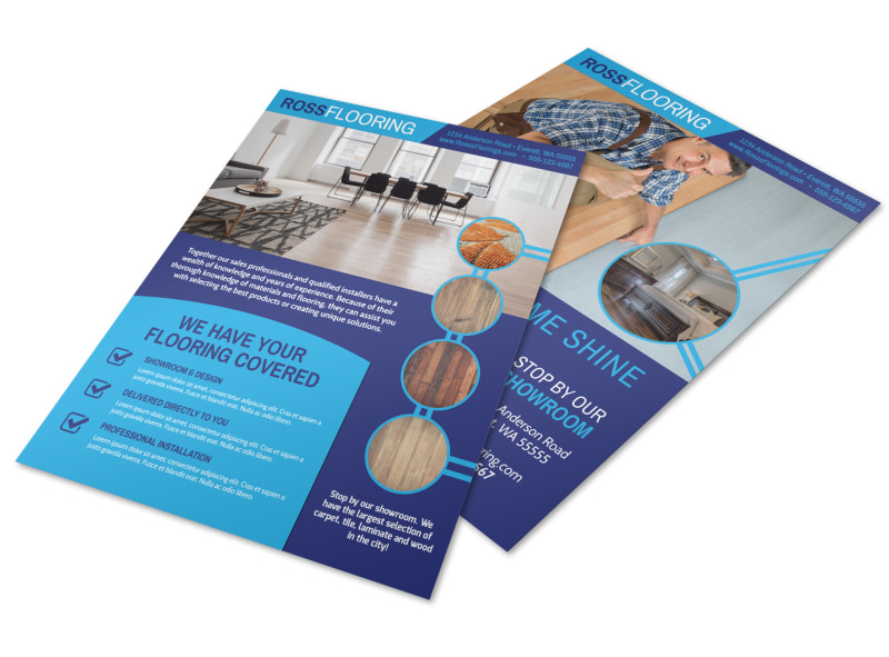 Beautiful Flooring Flyer Template