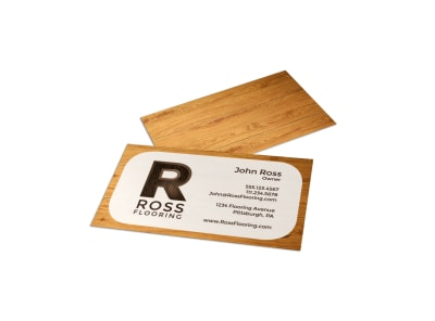 Wood Flooring Business Card Template preview