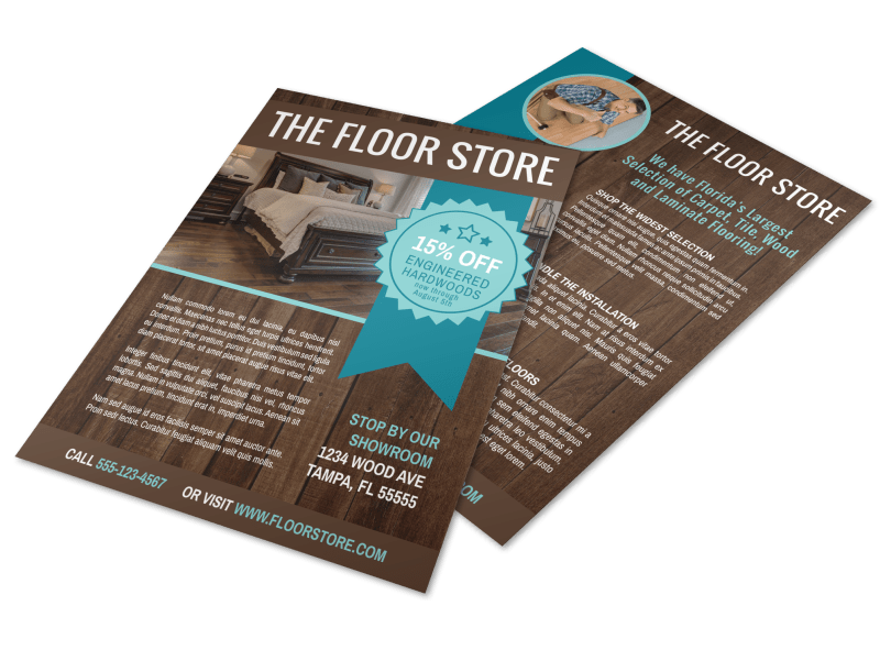 Flooring Advertising Flyer Template Preview 1