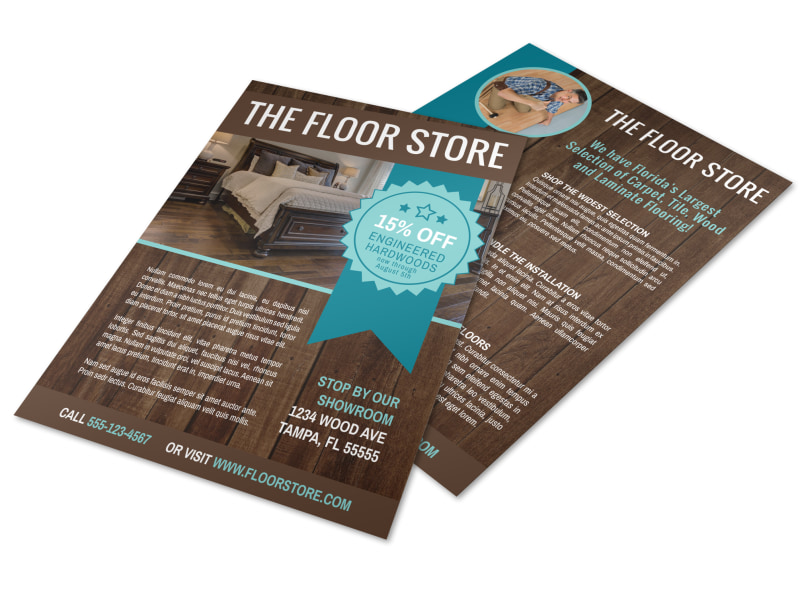 Flooring Advertising Flyer Template Preview 4