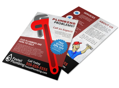 Plumbing Problems Flyer Template preview