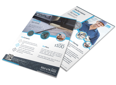 Corporate Carpet Cleaning Flyer Template preview