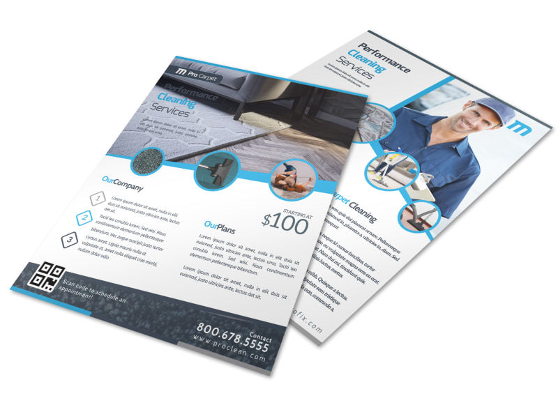 Corporate Carpet Cleaning Flyer Template