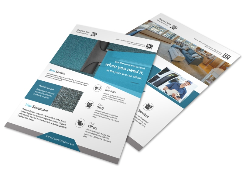 Carpet Cleaning Pros Flyer Template