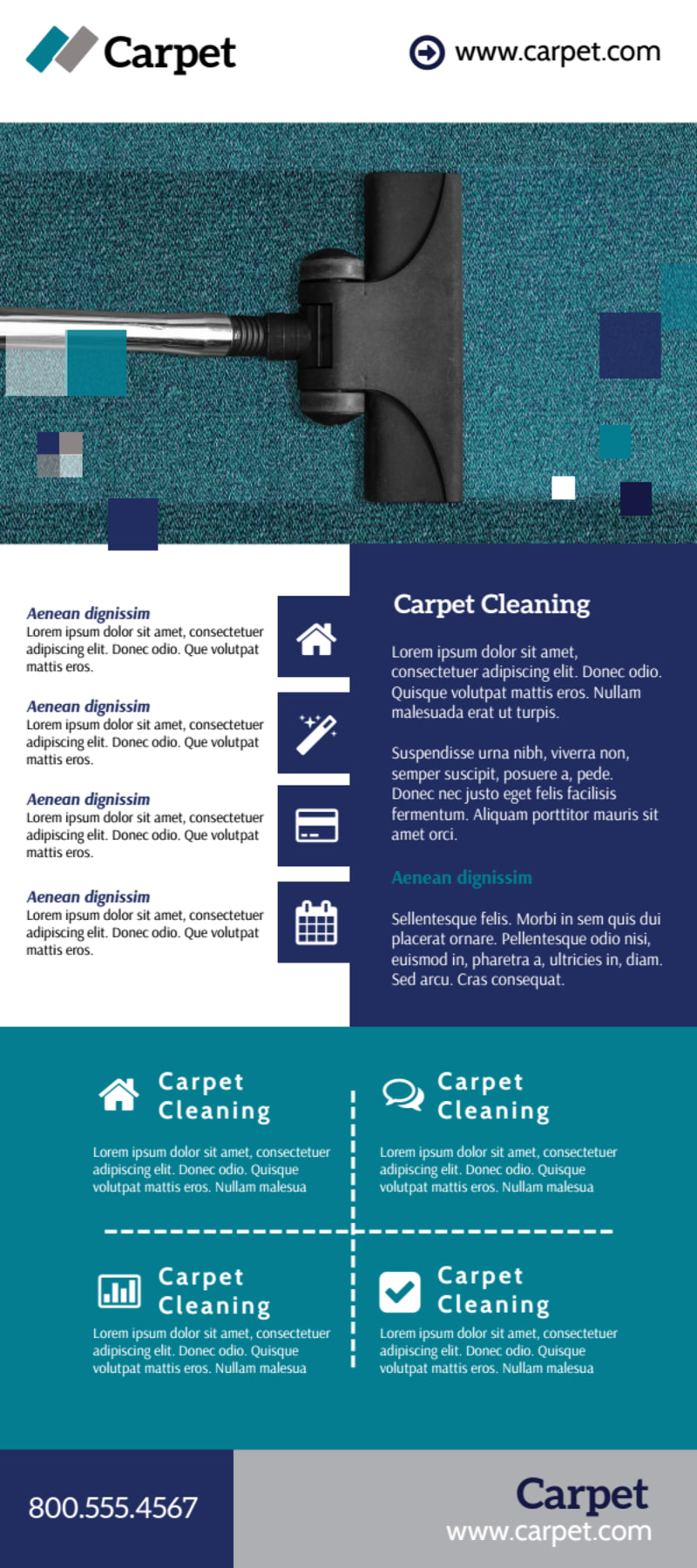 Beautiful Carpet Cleaning Flyer Template Preview 2