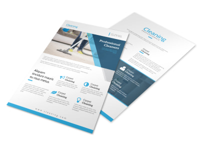 Modern Carpet Cleaning Flyer Template preview