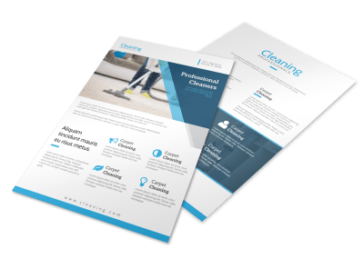 Carpet Cleaning Flyers Template Preview