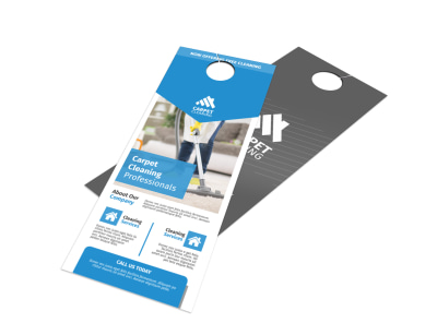 Special Carpet Cleaning Door Hanger Template