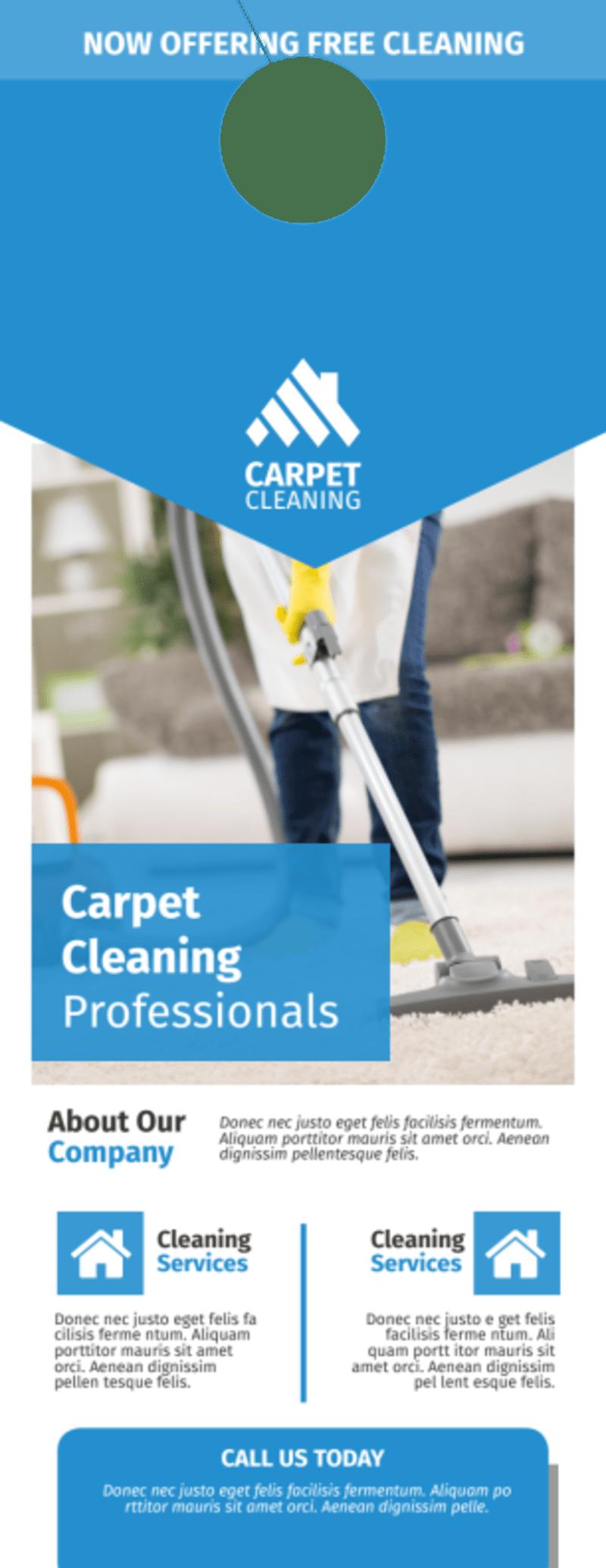 Special Carpet Cleaning Door Hanger Template Preview 2