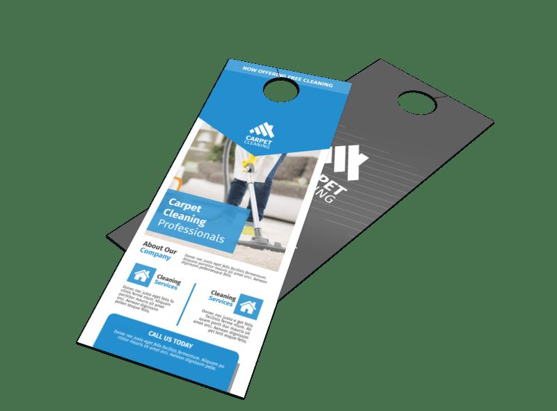 Special Carpet Cleaning Door Hanger Template Preview 1