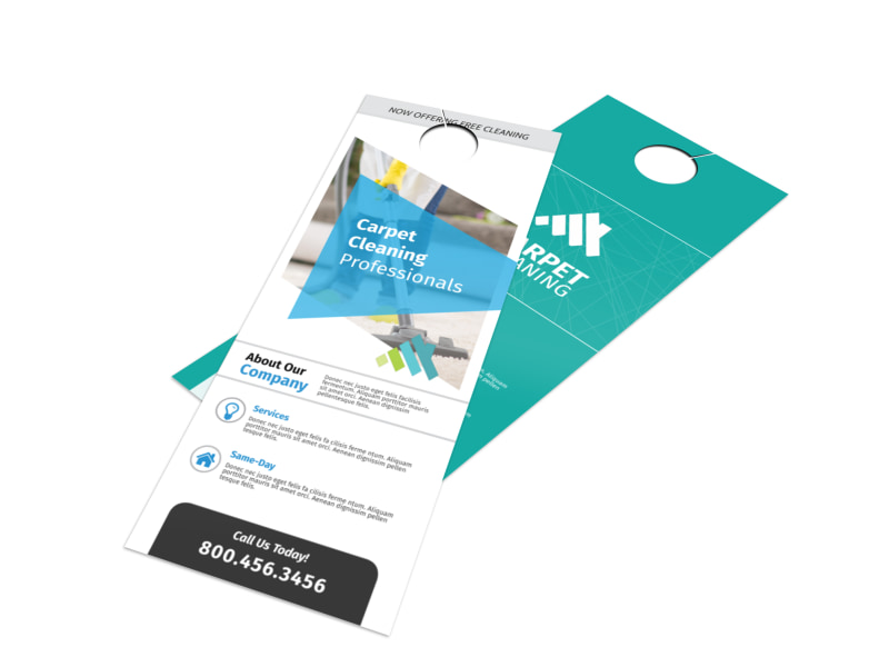 Outreach Carpet Cleaning Door Hanger Template Preview 4