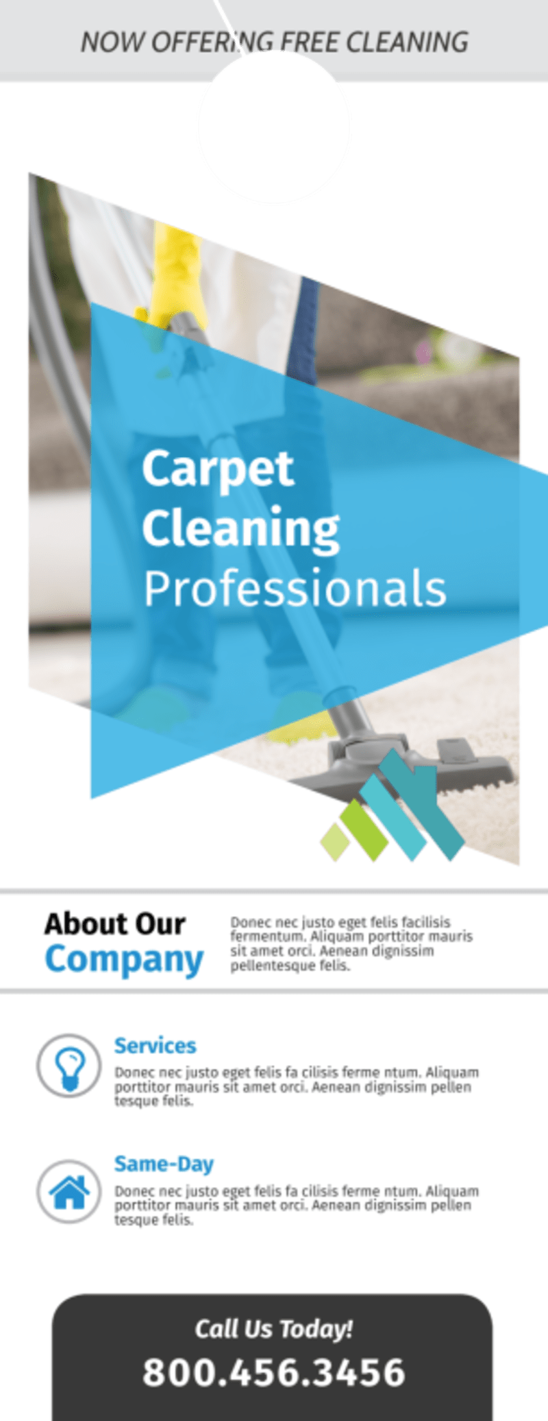 Outreach Carpet Cleaning Door Hanger Template Preview 2
