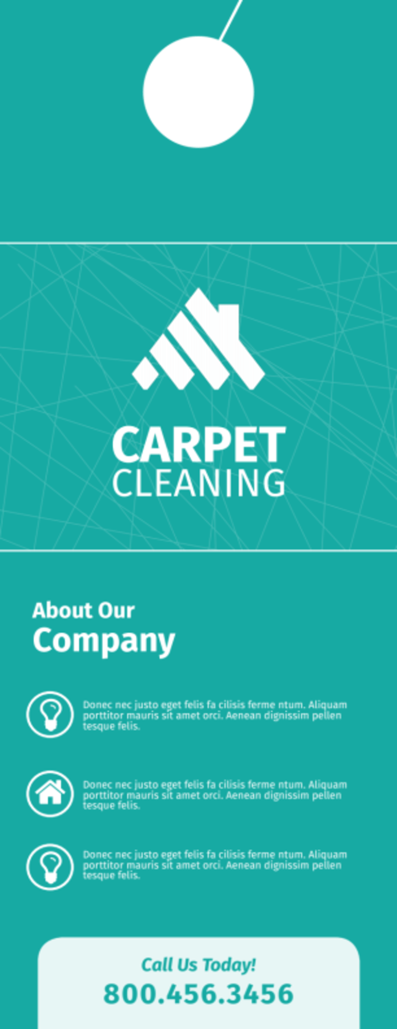 Outreach Carpet Cleaning Door Hanger Template Preview 3