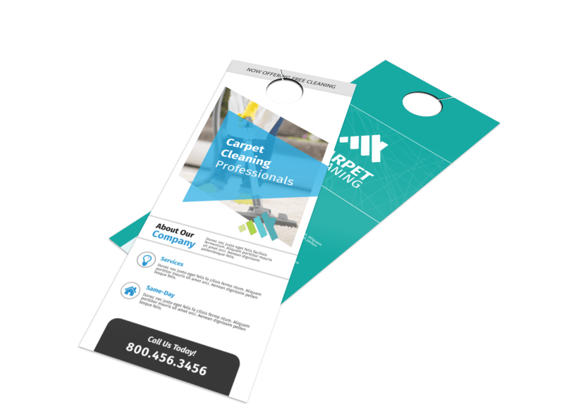 Outreach Carpet Cleaning Door Hanger Template Preview 1