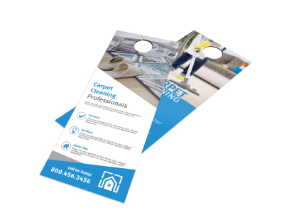 Carpet Cleaning Professionals Door Hanger Template preview