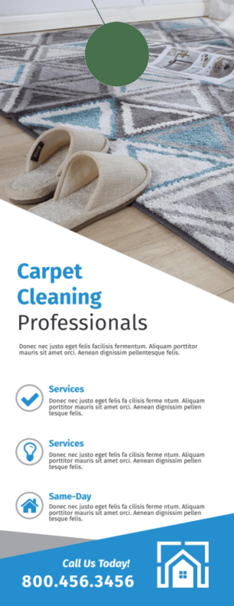 Carpet Cleaning Professionals Door Hanger Template Preview 2