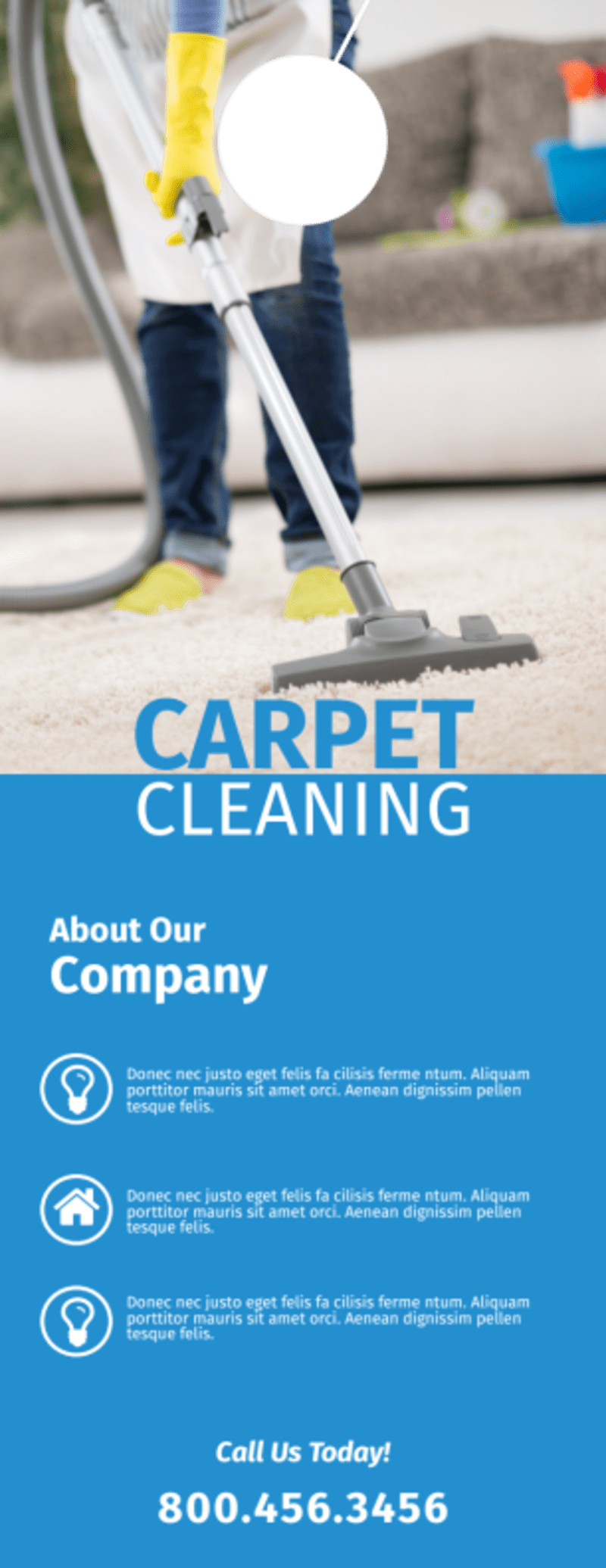 Carpet Cleaning Professionals Door Hanger Template Preview 3
