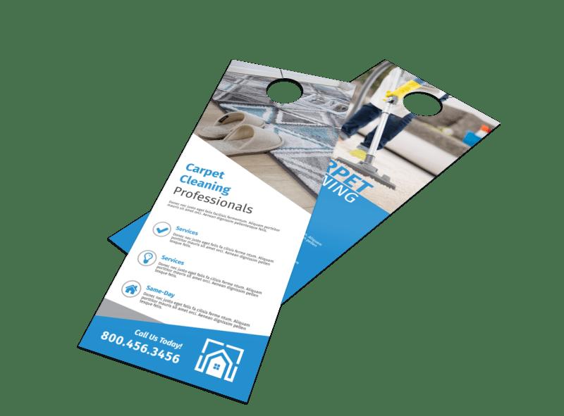 Carpet Cleaning Professionals Door Hanger Template Preview 1