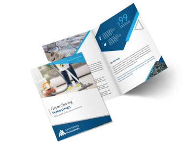 Pro Carpet Cleaning Bi-Fold Brochure Template preview