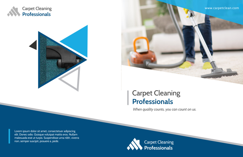 Pro Carpet Cleaning Bi-Fold Brochure Template Preview 2