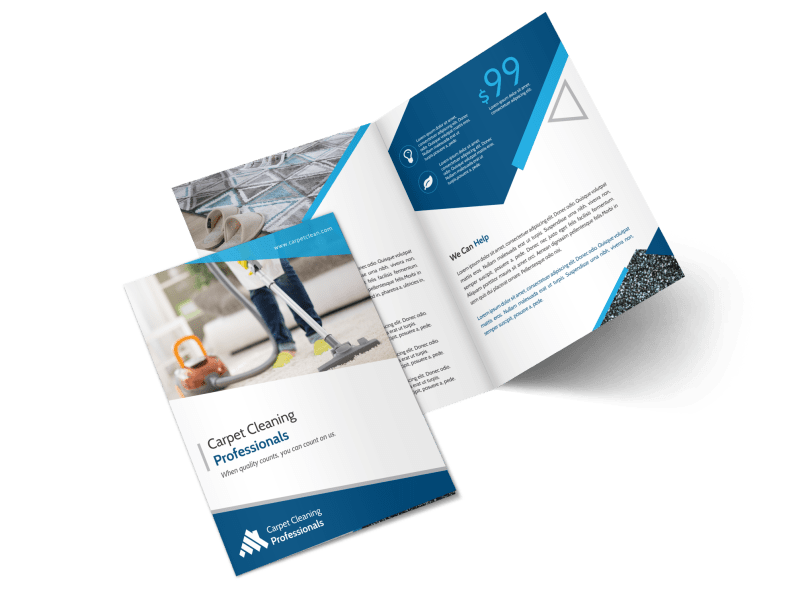 Pro Carpet Cleaning Bi-Fold Brochure Template Preview 1