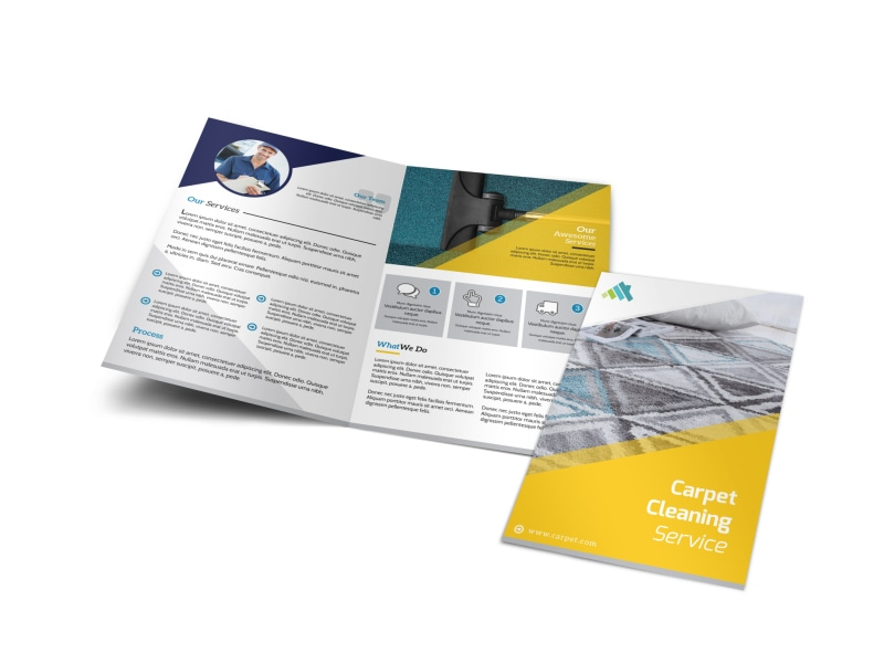 Awesome Carpet Cleaning Bi-Fold Brochure Template
