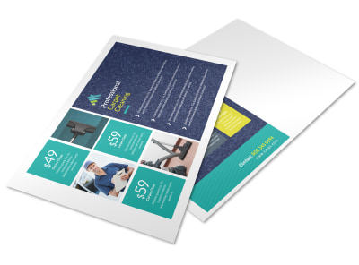 Carpet Cleaning Promo Postcard Template preview