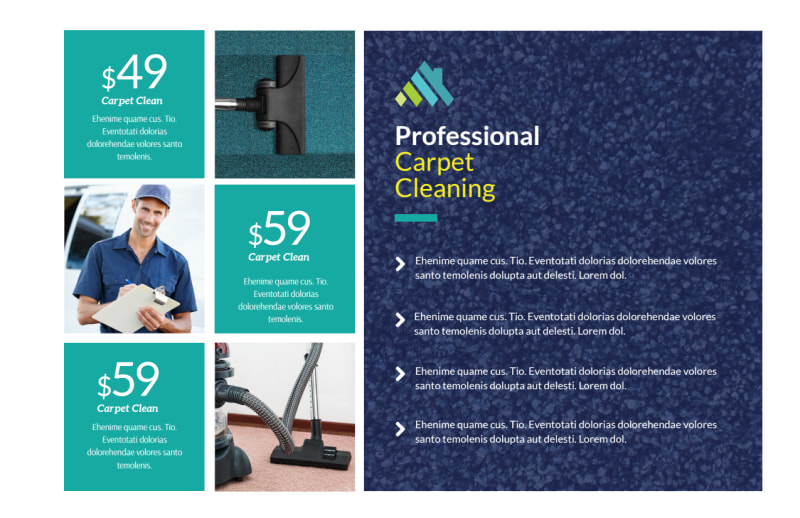 Carpet Cleaning Promo Postcard Template Preview 2