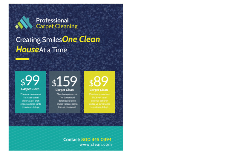 Carpet Cleaning Promo Postcard Template Preview 3