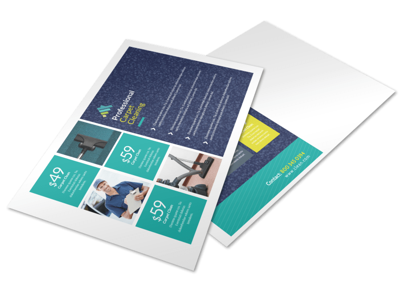 Carpet Cleaning Promo Postcard Template Preview 1