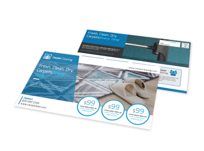 Carpet Cleaning EDDM Postcard Template preview