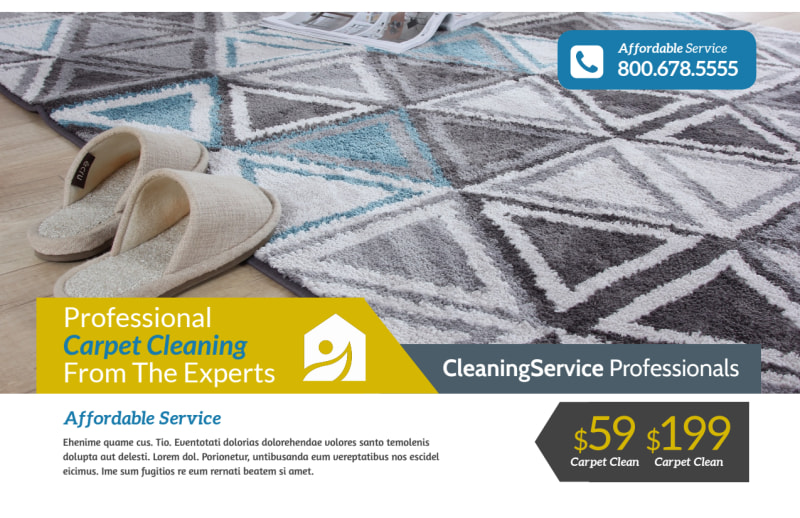 Carpet Cleaning Ad Postcard Template Preview 2