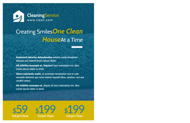 Carpet Cleaning Ad Postcard Template Preview 3