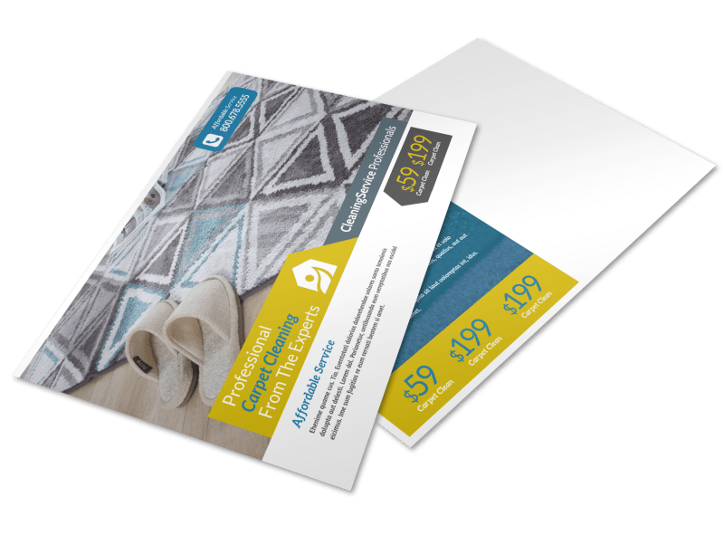 Carpet Cleaning Ad Postcard Template Preview 1
