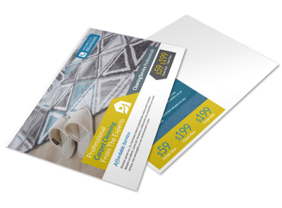 Carpet Cleaning Ad Postcard Template preview