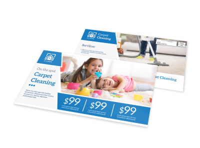 Carpet Cleaning Pricing EDDM Postcard Template preview