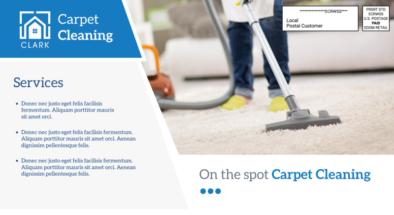 Carpet Cleaning Pricing EDDM Postcard Template Preview 3