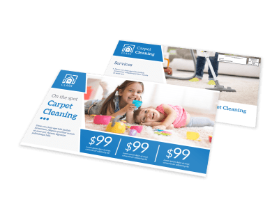 Carpet Cleaning EDDM Postcards Template Preview