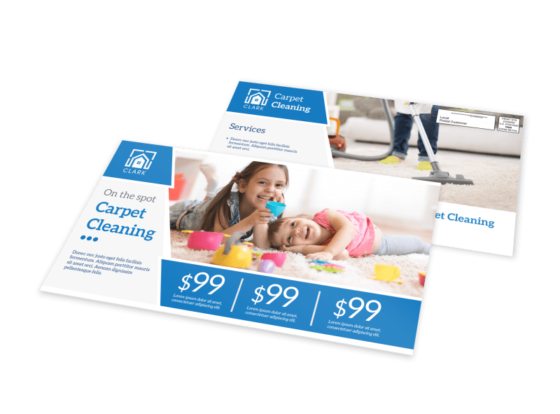 Carpet Cleaning Pricing EDDM Postcard Template Preview 1