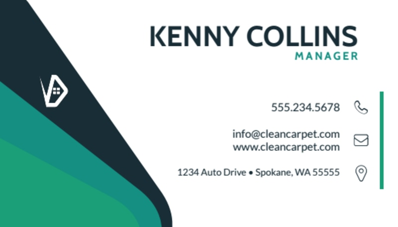 Awesome Carpet Cleaning Business Card Template Preview 2