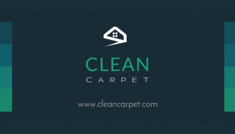 Dark Carpet Cleaning Business Card Template Preview 3