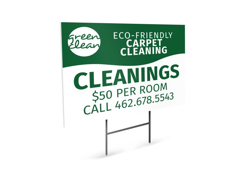 Eco Carpet Cleaning Yard Sign Template