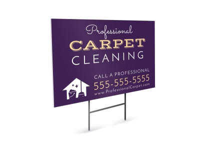 Professional Carpet Cleaning Yard Sign Template preview