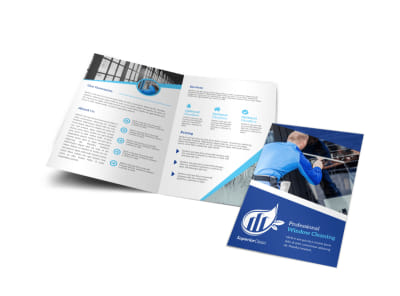 Super Window Cleaning Bi-Fold Brochure Template preview