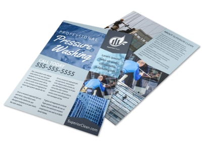 Classic Pressure Washing Flyer Template preview