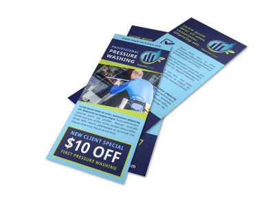 Awesome Pressure Washing Flyer Template preview