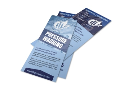 Simple Pressure Washing Flyer Template preview