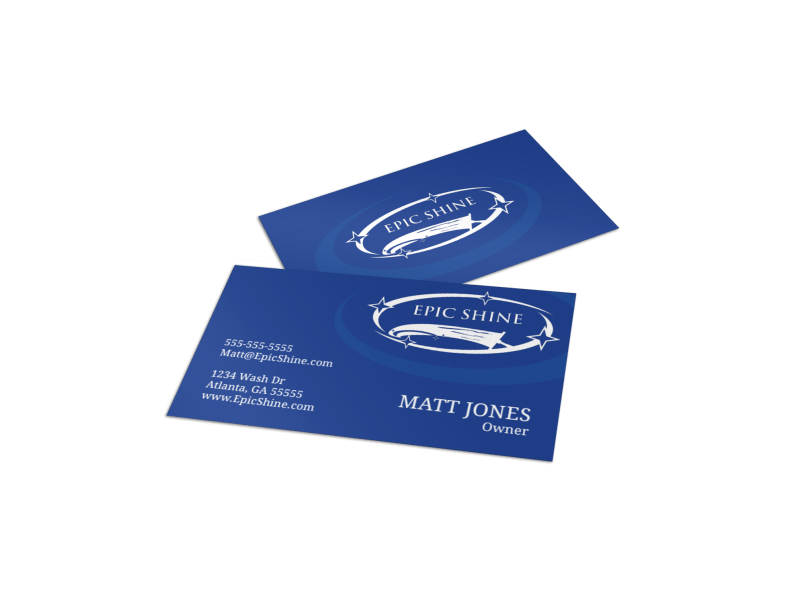 Simple Pressure Washing Business Card Template Preview 1