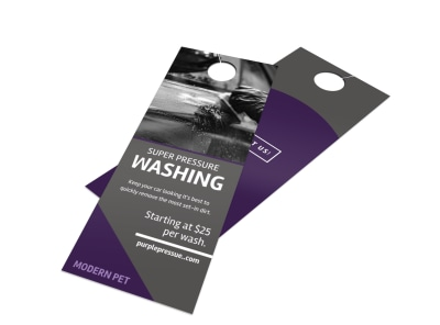 Super Pressure Washing Door Hanger Template preview